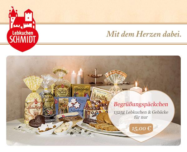 Lebkuchen Schmidt Begrüßungspäckchen